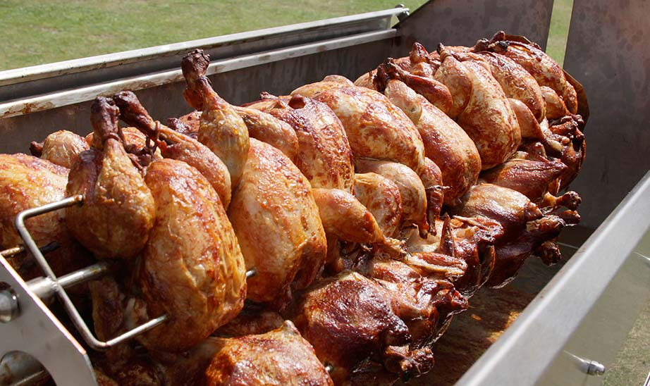 Attract more customers as they watch 40 Spit Roast Chickens turning on the Poultry Rack